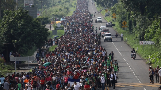 Migrant Caravan Crosses Into Mexico