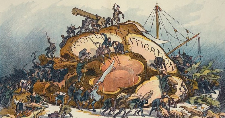 4.-28000v-LoC-Income-Tax-cartoon-1913-Puck-magazine-1024x689